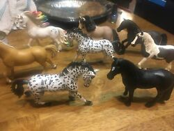 """Schleich Horse Lot 7 Horses 1 Unicorn 4"""" And 5"""""""