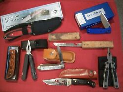 Junk Drawer Knife Lot Of 8 Items, Multi Tools And Knives, Some New Some Used