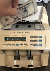 Cummins Jetscan 4062 One Pocket Bill Money Counter Currency Watch Video Counting
