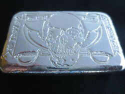 Rare Atlantis Mint 10 Oz Silver Pirate Bar 999 Fs Limited To 1,000 With Coa