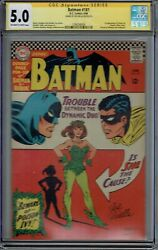 Cgc Ss 5.0 Batman 181 1st Appearance Poison Ivy With Pin-up 1966 Ow/white Pgs