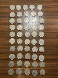One Roll 50 Pieces Three Cent Nickels Nickel 3cn Mixed Dates And Grades Nice Group