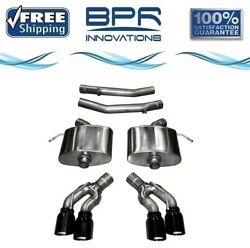 Corsa 304 Ss Axle-back Exhaust System Quad Rear For Cadillac Cts 16-19 14358blk