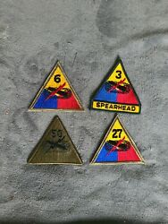 Us Army Military Spearhead Armored Division Vietnam Patch 3rd 27th 50th 6th