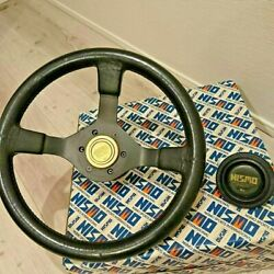 Jdm Nissan Nismo Steering Wheel With Boss Horn Button Box Old Logo Genuine Oem