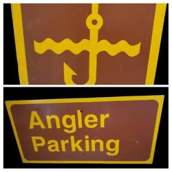 Vintage National Parks Angler Parking Sign Fishing Lure Signs Canada