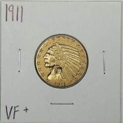 1911 5 Indian Head Gold Half Eagle In Vf+ Condition 05884