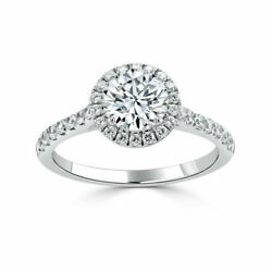 Solid 14k White Gold 0.88 Ct Natural Round Diamond Engagement Rings Size 5 6 7 8