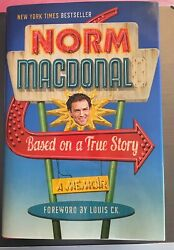 Norm Macdonald Based On A True Story 2016 Hardcover Brand New Dust Jacket Mint