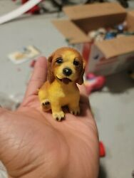 Vintage Beagle Puppy Dog Figurine Statue solid material