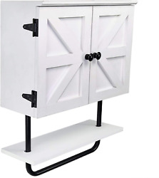 Excello Global Products Barndoor Bathroom Wall Cabinet, Space Saver Storage Cabi