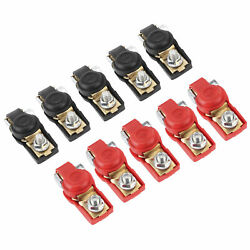 10pcs Car Battery Cable Terminal Clamps Connectors Large Current Negative And