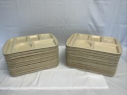 Set Of 38 Prolon Ware Melamine School Lunch Tray Tab Off White Color