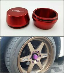 Front Axel Hub Dust Grease Center Wheel Caps Cnc Red For Isuzu Dmax Chevy Racing