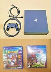 Playstation Ps4 Pro 4k Upgraded 2tb Sandisk Ultra Ssd Black And 2 Games