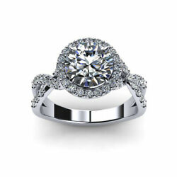 0.96 Ct Real Diamond Women Engagement Ring Solid 950 Platinum Rings Size 6 7 8 9