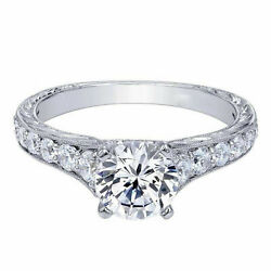 Real 0.90 Ct Round Cut Diamond Engagement Ring 14k Solid White Gold Size 4 5 6 7