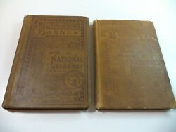 Antique Lot Hb Reading, Lesson Books, National Readers Second, Third Illustrated
