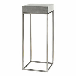 Uttermost Jude Plant Stainless And Concrete Plant Stand 24806