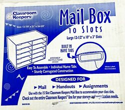Classroom Keepers Mail Box - 10 Mail Slots Blue - Free Shipping