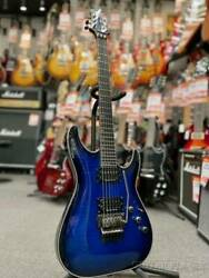 Used Schecter Black Jack Sls C-1 Fr Passive Blue Electric Guitar Free Shipping