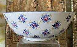 Rare Large Imperial Russian Gardner Soft Paste Porcelain Fiance Bowl Moscow 1870
