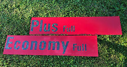 Economy And Plus Gas Oil Sign Gas Pump Acrylic Display Restore Parts Cool Large