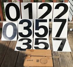 Vintage Gas Service Station Country Store Pricers Numbers Signs 2 Side W/box Nos