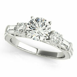 1.67 Ct Real Round Diamond Women Engagement Rings Solid 950 Platinum Size 7 9 .5