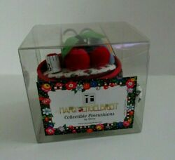 New Mary Engelbreit Pin Cushion Teacup With Cherry Fabric - New In Box