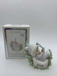 Rare Precious Moments 2013 Baby's First Christmas Ornament 131006 New