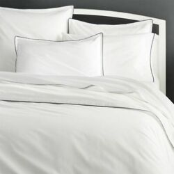 Crate And Barrel Haven Grey King Duvet Cover + Two Standard Size Shams