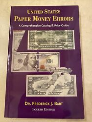 United States Paper Money Errors 4th Fourth Edition Us Currency
