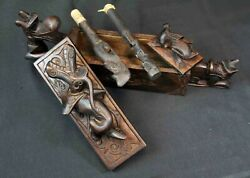 Dayak Borneo Tribal Tattoo Box With Tools, Hand Carved Work Of Art, Vintage