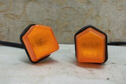 2 Nos Genuine Fiat 127 Series 3 Sport 75 1300 Side Signal Flasher Lamps 0177