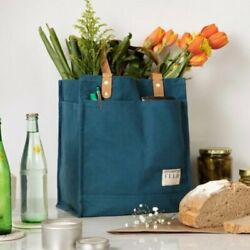 Feed Projects Canvas Market Tote Bag Sea Blue 14quot;W x 13quot;H x5quot;D Brand New $44.90