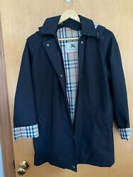 Womenandrsquos London Brittany Black Raincoat With Wool Liner Sz. 4 P Petite