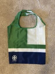 New Tory Burch Sport Large Tote Shopping Bag Blue Green White $9.99