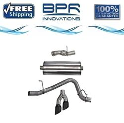 Corsa 304 Ss Cat-back Exhaust System Dual Side For Cadillac/gmc/chevy 14826blk