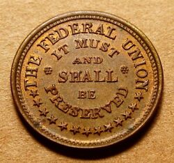 Fuld 220/322a Very Nice Unc Rb - The Federal Union Must And Shall Be Preserved