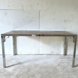 Mid-century Modern Rosewood And Chrome Desk Or Table