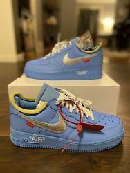 Ds Nike Off-white Mca Air Force 1 Low University Blue Size 10.5 M 100 Authentic