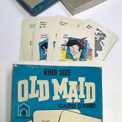 Vintage Old Maid Circus Card Game King Size 3292 Edu-cards 1973