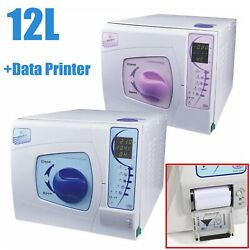 12l Dental Medical Autoclave Sterilizer Vacuum Steamer With Data Printing System