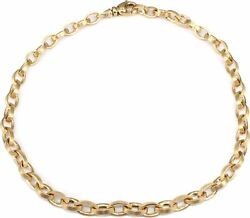 Anchor Chain Oval Necklace Gold 585 7 Mm Women 42 Cm Yellow Solid Ladies
