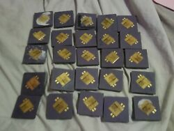 Gold Recovery Lot Of 25 Vintage Silver Cpu Lot High Yield Refine Scrap 1988 Ncr