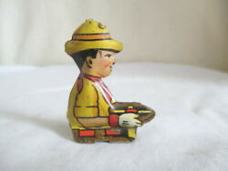 Tin Marx Tractor Or Crawler Driver Vintage Toy Part