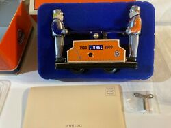 Schylling Lionel Trains 1900 - 2000 Hand Car Wind Up W Key Sleeve And Tin Box
