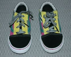 Vans Off The Wall Kids Toddler Multi Color Sneakers Size 8