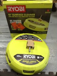 Ryobi Pressure Washer Surface Cleaner Gas Rotating Jets Quick Connect 15 In.